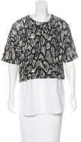 Derek Lam 10 Crosby Layered Short Sleeve Top