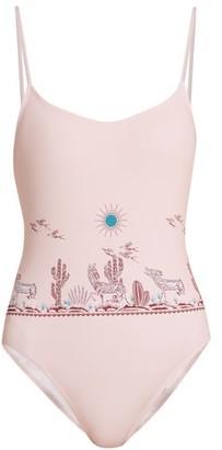 Thorsun Billy Graphic-print Swimsuit - Womens - Light Pink
