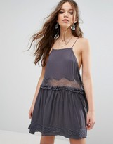 Free People Two For Tea A-Line Mini Dress