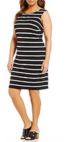 Calvin Klein Plus Ottoman Stripe Dress