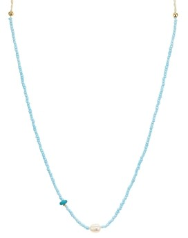 Aqua Adjustable Beaded Necklace, 13 - 100% Exclusive
