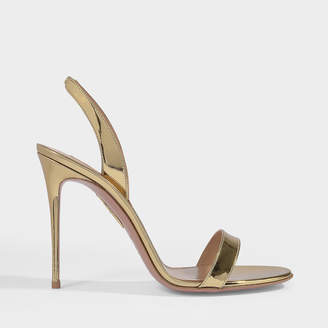 Aquazzura So Nude 105 Sandals In Soft Gold Leather