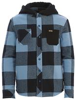 Animal Boys' Lando Long Sleeve Hooded Shirt, Blue