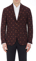 Montedoro MEN'S TWEED TWO-BUTTON SPORTCOAT-RED SIZE 38