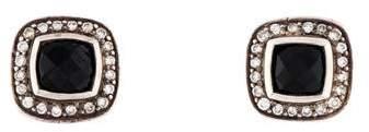 David Yurman Onyx & Diamond Albion Stud Earrings