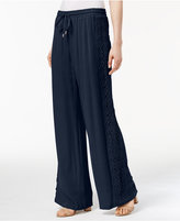 INC International Concepts Lace-Trim Wide-Leg Pants, Created for Macy's