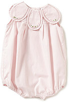 Edgehill Collection Baby Girls 3-9 Months Petal Embroidered Bubble Romper