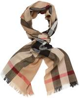 "Burberry Women's Lightweight Check Wool & Cashmere Long Scarf, 78"" x 18"""