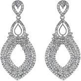 Mikey Twin oval loop crystal drop earring
