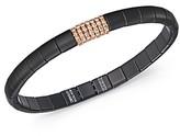 Roberto Demeglio 18K Rose Gold & Matte Black Ceramic Pura Stretch Bracelet with Champagne Diamonds