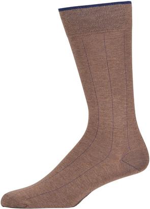 Marcoliani Milano Men's Pima Cotton Pinstripe Socks