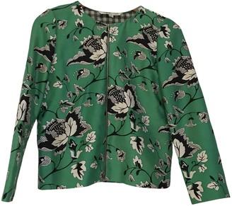 Diane von Furstenberg Green Silk Jackets