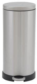 Household Essentials Stainless Steel 30L Concord Round Step Trash Can
