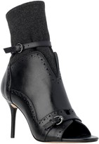 Max Studio Willow - Smooth Leather Open-Toe Booties