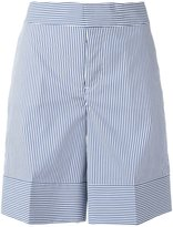 DSQUARED2 pinstripe wide shorts - women - Cotton/Nylon/Spandex/Elastane - 40