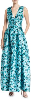 Sachin + Babi Brooke Floral Gown w/ Pockets