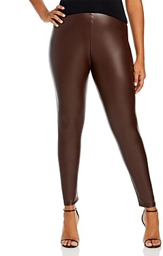 Aqua Curve Plus Size Faux Leather High Waist Leggings - 100% Exclusive