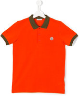 Moncler short-sleeved polo shirt - kids - Cotton - 14 yrs