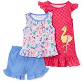 Komar Kids Pink & Blue Flamingo Nightgown & Pajama Set - Toddler