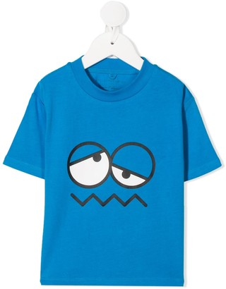 Stella Mccartney Kids Emoji Face crew-neck T-shirt