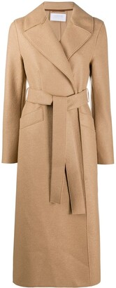Harris Wharf London Wrap-Around Virgin Wool Coat