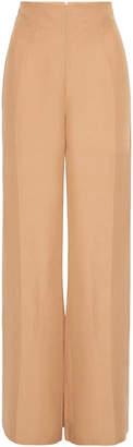 ST. AGNI Amo Flared Linen-Blend Trousers