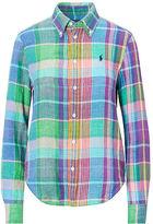 Polo Ralph Lauren Boy Fit Plaid Linen Shirt
