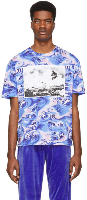 McQ Blue Waves T-Shirt