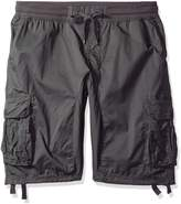 Southpole Men's Big and Tall Cargo Jogger Shorts in Solid and Camo Colors