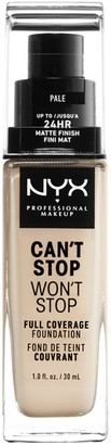 NYX Can't Stop Won't Stop Full Coverage Foundation - Pale