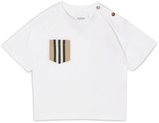 Burberry Kids Icon Stripe Pocket T-Shirt