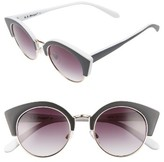 A. J. Morgan Women's A.j. Morgan Temple 50Mm Sunglasses - Black/ White