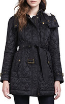 Burberry Finsbridge Hooded Quilted Jacket, Black