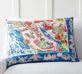 Pottery Barn New York Scarf Print Pillow Cover