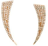 Anne Sisteron 14K Diamond Horn Ear Climbers
