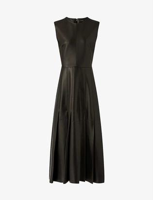 Joseph Demry panelled leather mini dress