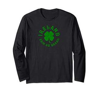 Ireland Erin Go Bragh Lucky Clover Long Sleeve T-Shirt