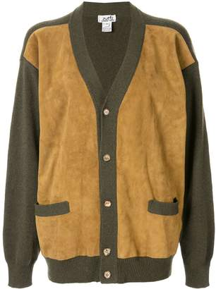 Hermes Pre-Owned cashmere panelled relaxed cardigan