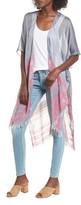 Sole Society Women's Mixed Stripe Chambray Kimono Scarf