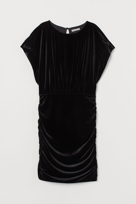 H&M Velour Dress - Black
