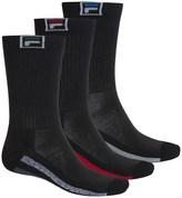 Fila Descend Stripes Socks - 3-Pack, Crew (For Men)