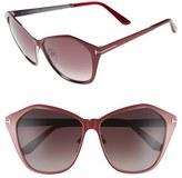 Tom Ford Women's Lena 58Mm Sunglasses - Bordeaux/ Gradient Lens