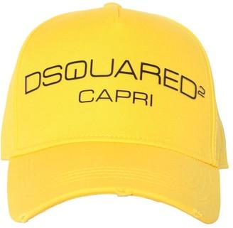 DSQUARED2 D2 Capri Cotton Canvas Baseball Hat