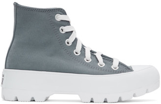 Converse White Padded Chuck Taylor All Star Lugged High Sneakers
