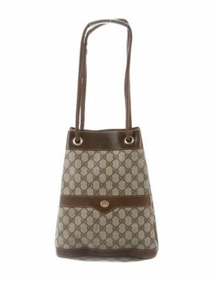 Gucci Vintage GG Canvas Bucket Bag Beige