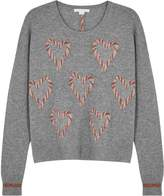 Duffy Grey heart-intarsia cashmere jumper