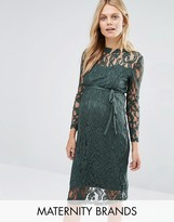 Mama Licious Mama.licious Mamalicious Long Sleeve Lace Dress