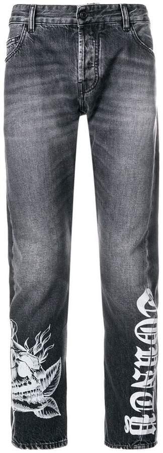 Marcelo Burlon County of Milan Light wash anti-fit jeans