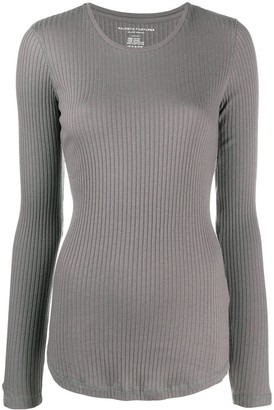 Majestic Filatures Fitted Ribbed Pullover