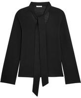 Chloé Pussy-bow Merino Wool Sweater - Black
